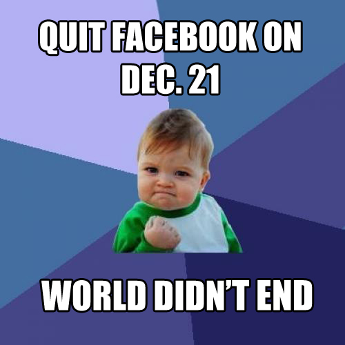 Success kid QUIT FB